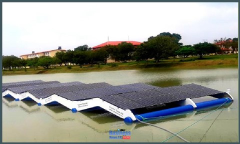 Norwegian Ambassador opens Sri Lanka's first floating solar plant during visit to North